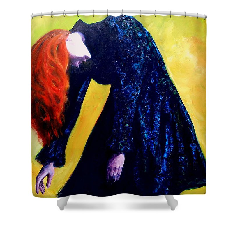 Acrylic Shower Curtain featuring the painting Wound Down by Jason Reinhardt