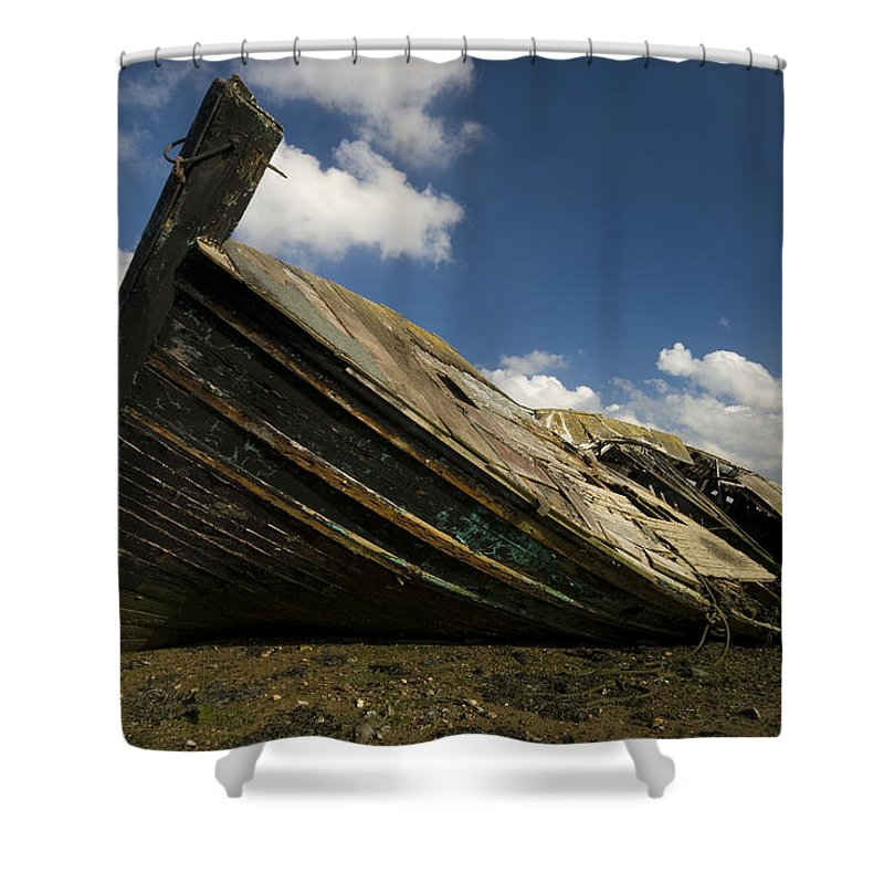 Wreck Shower Curtain featuring the photograph Wreck Hoo England by Chris Pickett