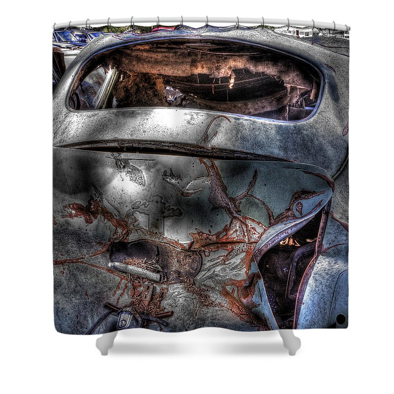 Shower Curtain featuring the photograph Wrecking Yard Study 2 by Lee Santa
