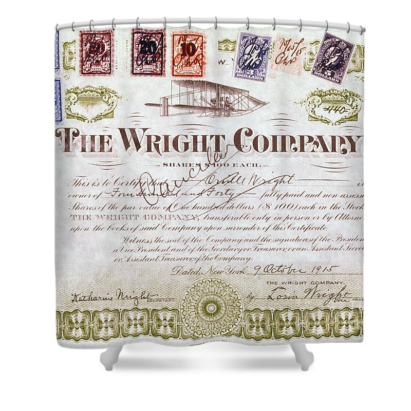 1915 Shower Curtain featuring the photograph Wright Brothers, 1915 by Granger