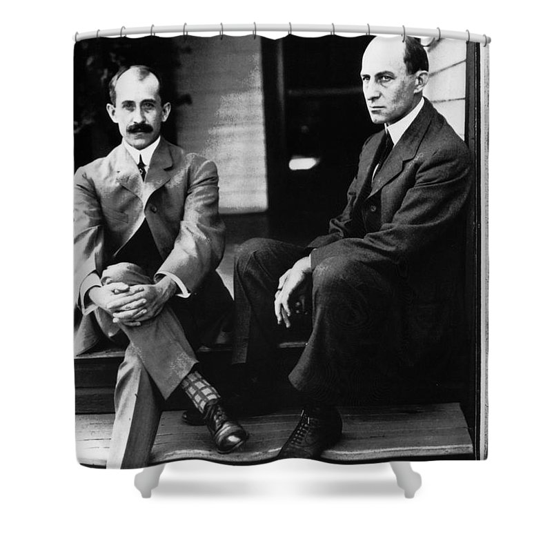 19th Century Shower Curtain featuring the photograph Wright Brothers by Granger