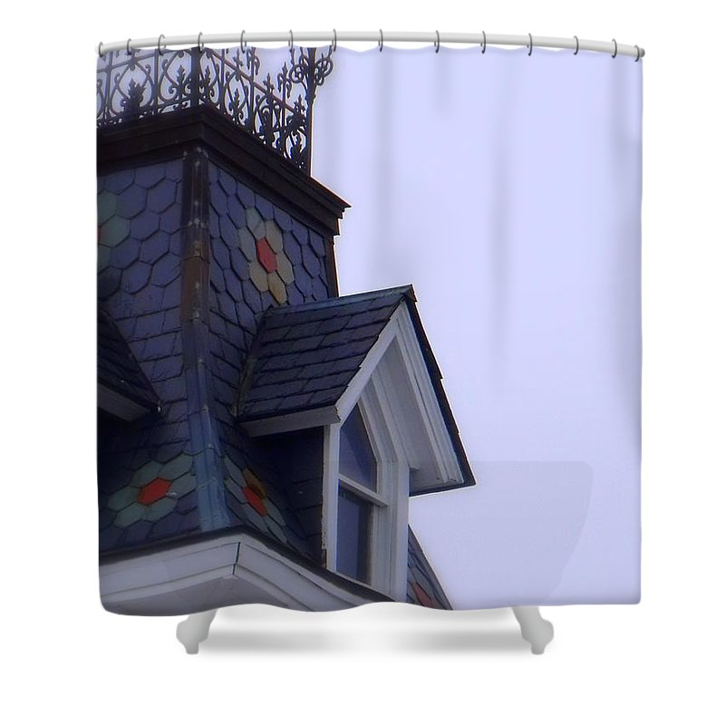 Wrought Iron Antique Roof Top Shower Curtain featuring the photograph Wrought Iron Roof Top by Ed Smith