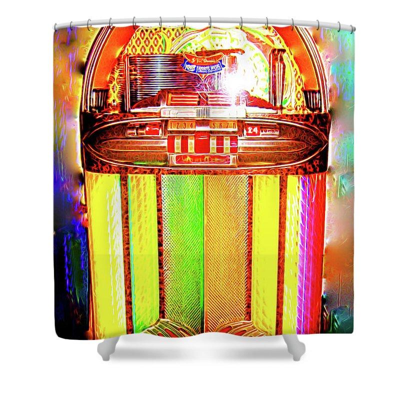 Wurlitzer Jukebox Shower Curtain