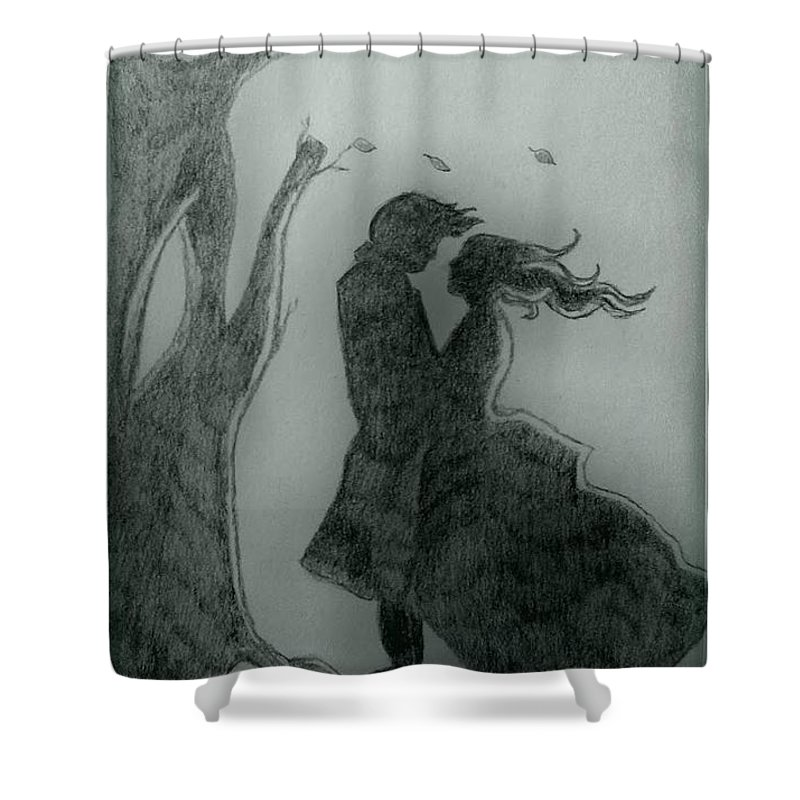 Emily Bronte Shower Curtain Featuring The Drawing Wuthering Heights By Bryan Fields