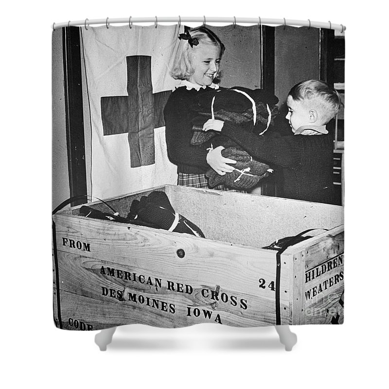 1942 Shower Curtain featuring the photograph Ww II: Red Cross, C1942-43 by Granger