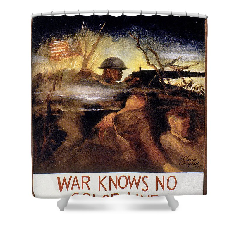 20th Century Shower Curtain featuring the photograph Wwii: Color Line Poster by Granger