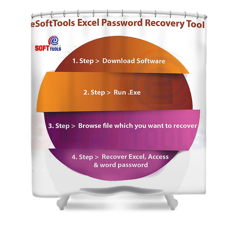 Xlsx Password Recovery Shower Curtain featuring the digital art Xlsx Password Recovery by Excel password recovery