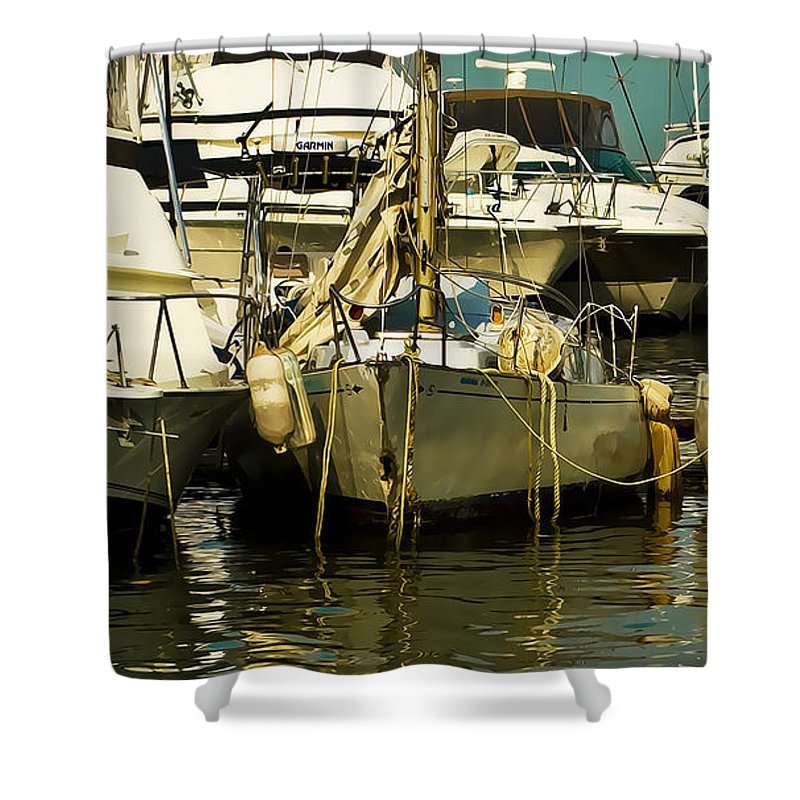 Boats Shower Curtain featuring the photograph Yacht Club by Galeria Trompiz
