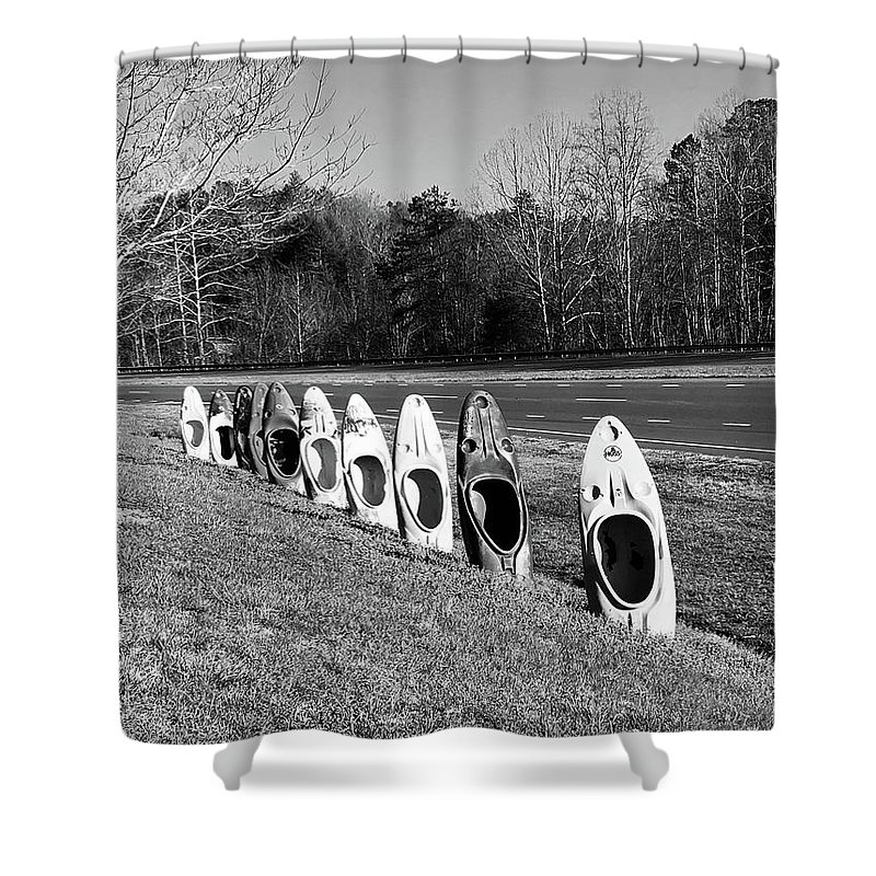 Stills Shower Curtain featuring the photograph Yak Rack by Maria Wagner