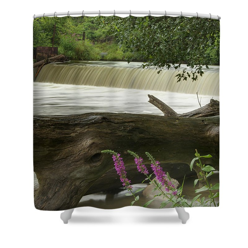 Landscape Shower Curtain featuring the photograph Yates Dam by Michael Peychich