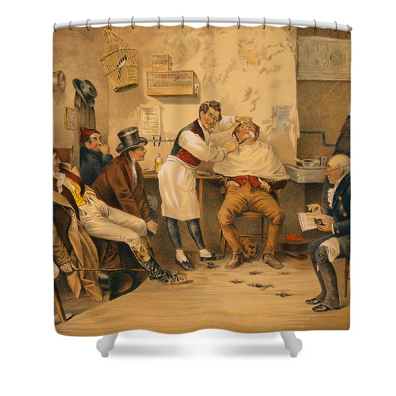 Ye Shower Curtain Featuring The Painting Olde Time Barbershop By Bill Cannon