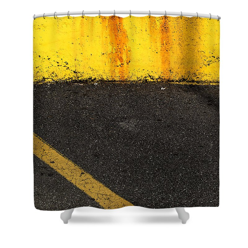 Yellow Shower Curtain featuring the photograph Yellow And Grey Wc by Lyle Crump