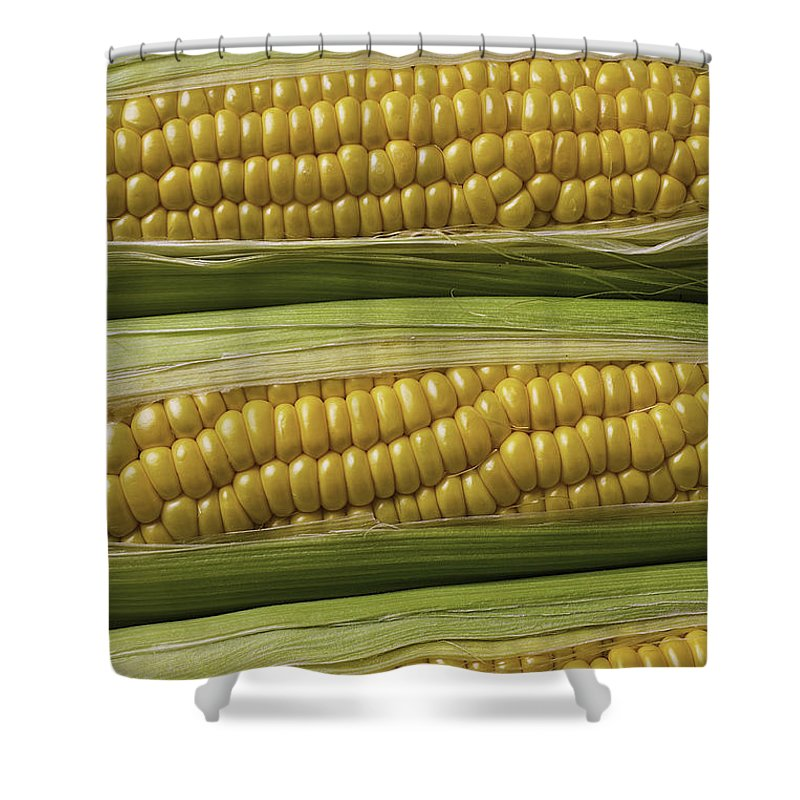 Yellow Corn Shower Curtain featuring the photograph Yellow Corn by Garry Gay
