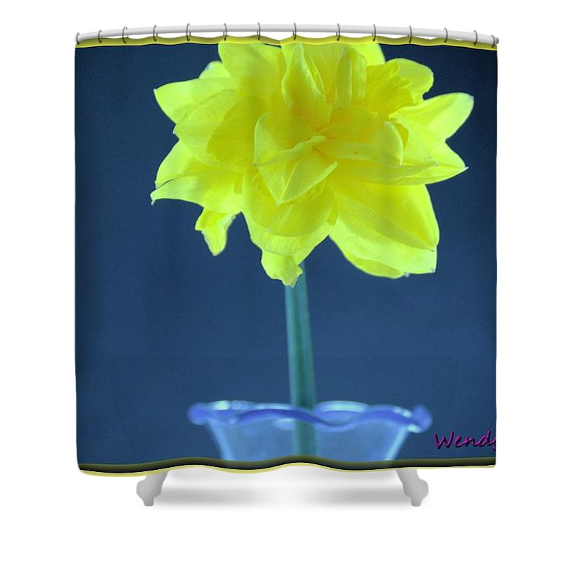 Flower Shower Curtain featuring the photograph Yellow Daffodil by Wendy Fox