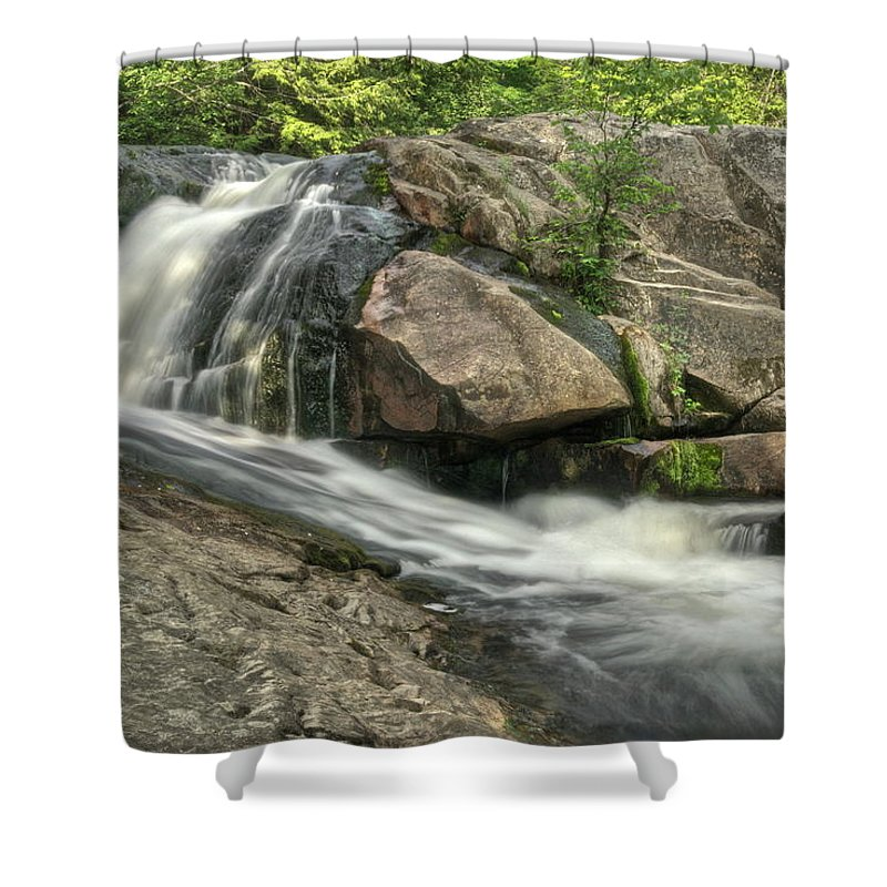 Yellow Dog Falls Shower Curtain featuring the photograph Yellow Dog Falls 4 by Michael Peychich