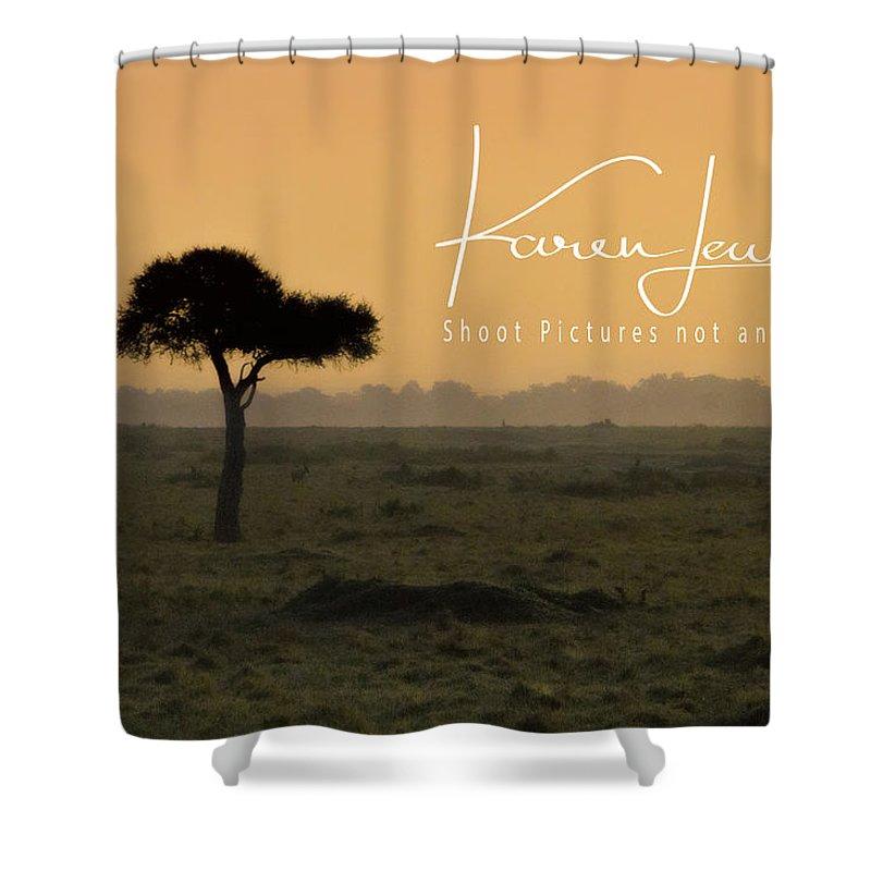Masai Mara Shower Curtain featuring the photograph Yellow Mara Dawn by Karen Lewis