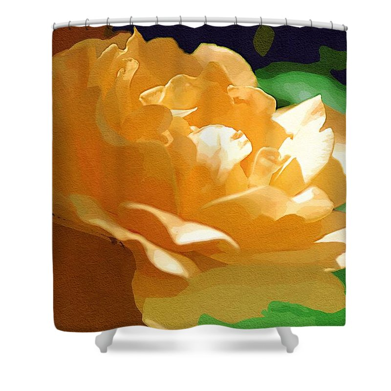 Yellow Rose Shower Curtain featuring the photograph Yellow Rose Of Texas by Donna Bentley