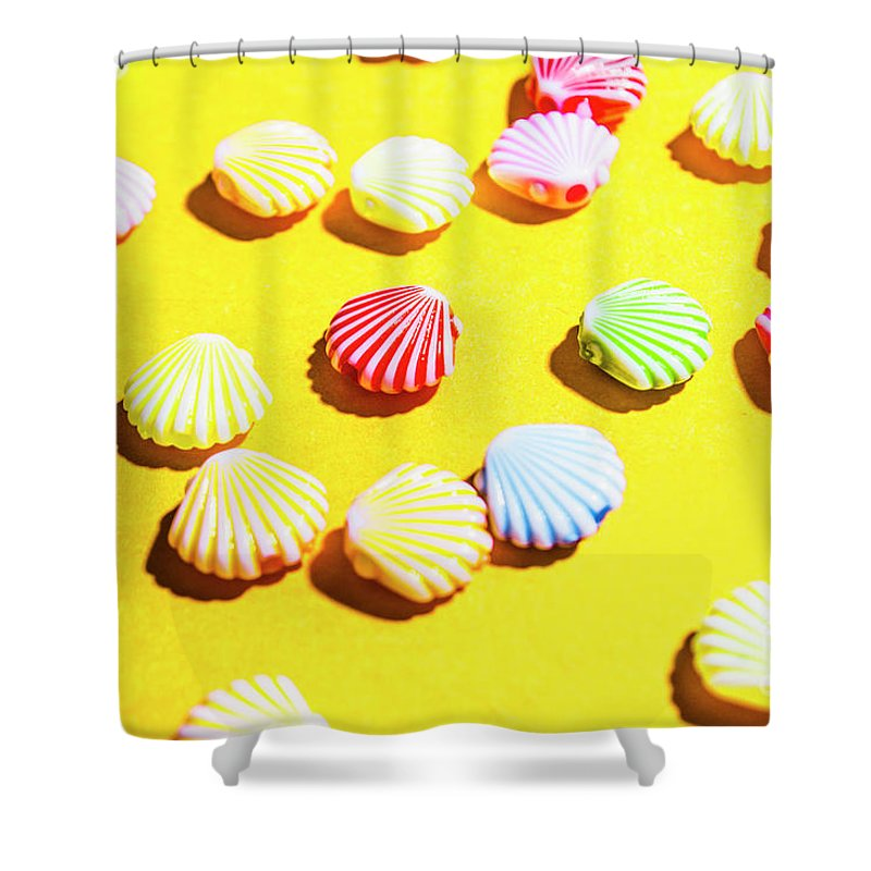 Sea Shower Curtain featuring the photograph Yellow Seaside Scenes by Jorgo Photography - Wall Art Gallery