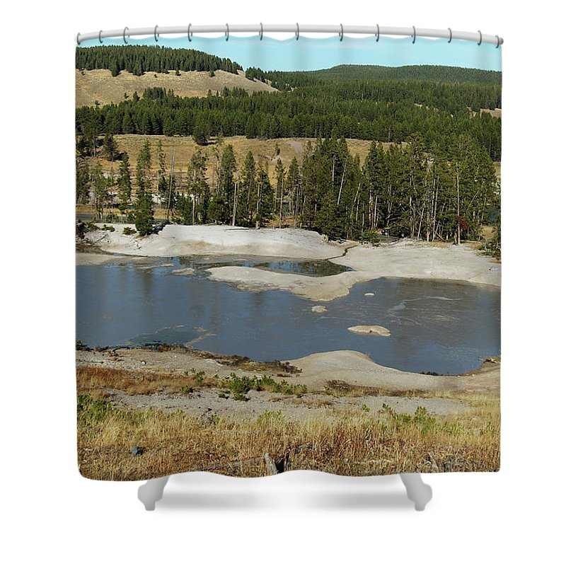 Yellowstone Shower Curtain featuring the photograph Yellowstone Mineral Ponds by Michael Peychich