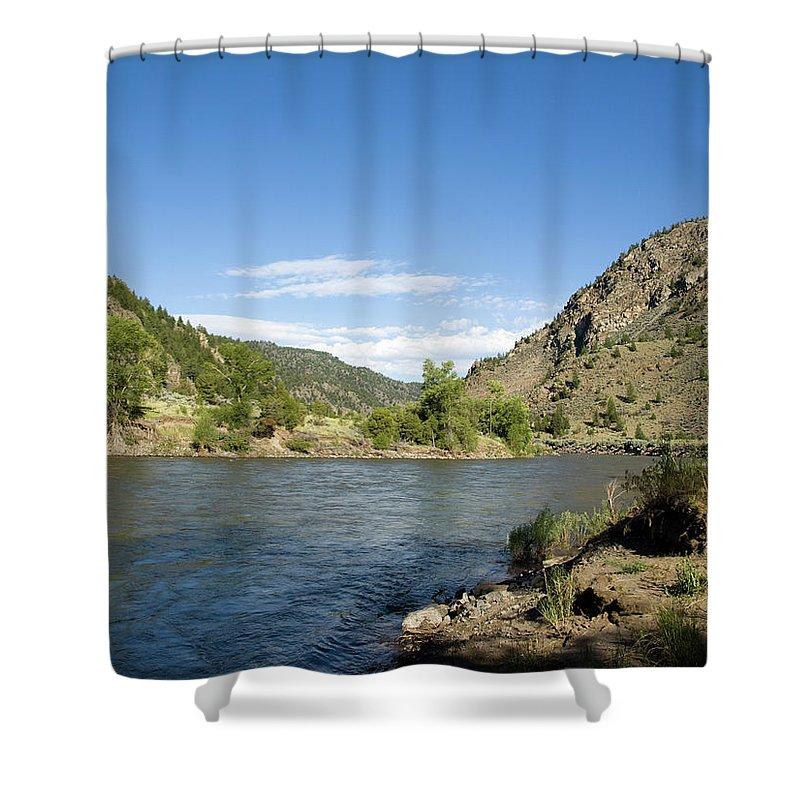 Gardiner Montana Shower Curtain featuring the photograph Yellowstone Serenity  by Tara Lynn