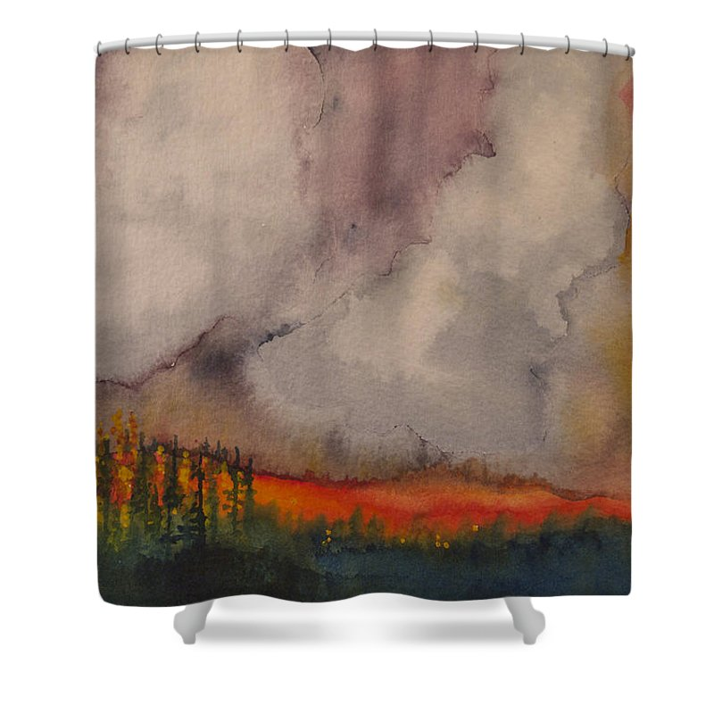 Crown Fire Shower Curtains