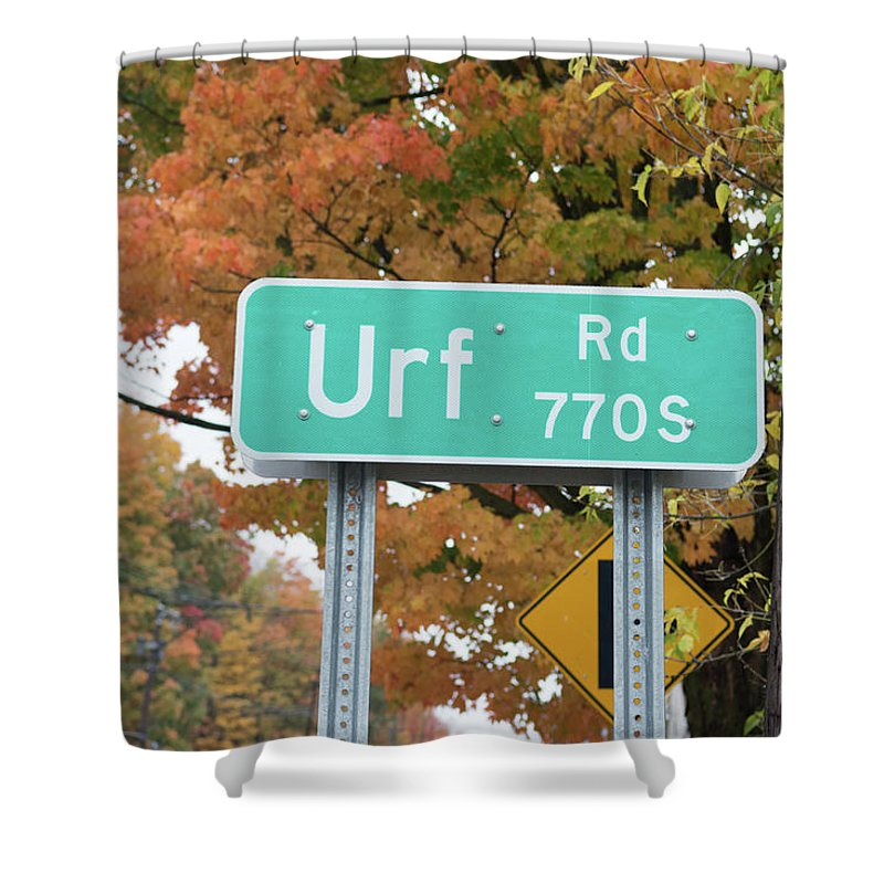 Directional Signs Shower Curtain featuring the photograph Yes, Somewhere In The World by Guy Whiteley