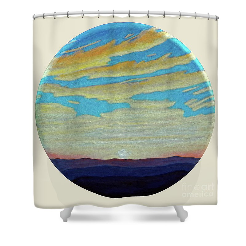 Landscape Shower Curtain featuring the painting Yesterday by Brian Commerford