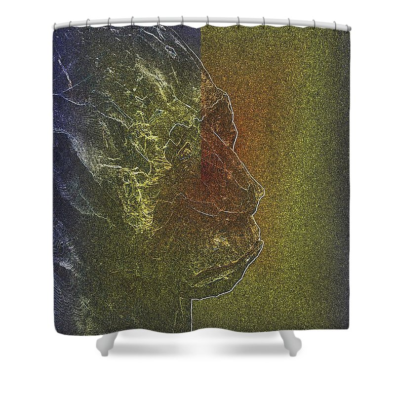 Yeti Shower Curtain featuring the photograph Yeti by Tim Allen