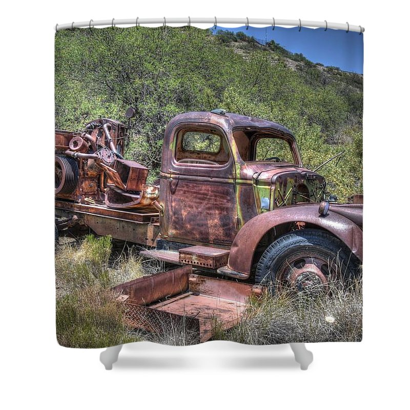Yey Old Welding Truck Shower Curtain for Sale by Thomas Todd