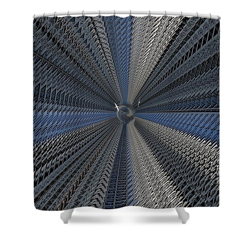 Yin And Yang Shower Curtain featuring the digital art Yin And Yang Revisited by Tim Allen
