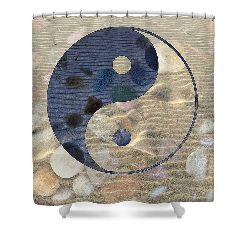 Yin And Yang Shower Curtain featuring the photograph Yin Yang Harmony by Anthony Robinson