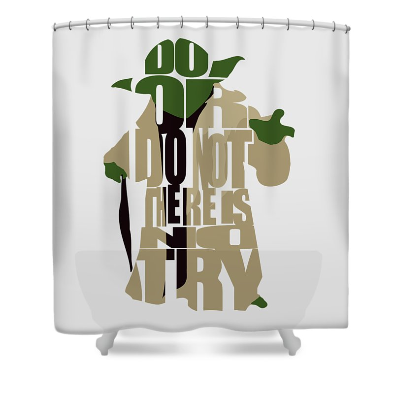 Yoda Shower Curtain Featuring The Digital Art