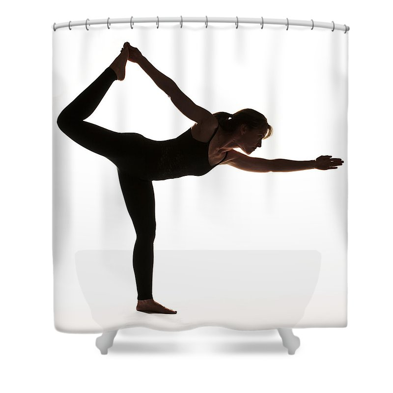 Yoga Shower Curtain featuring the photograph Yoga Pose King Dancer by Steve Williams