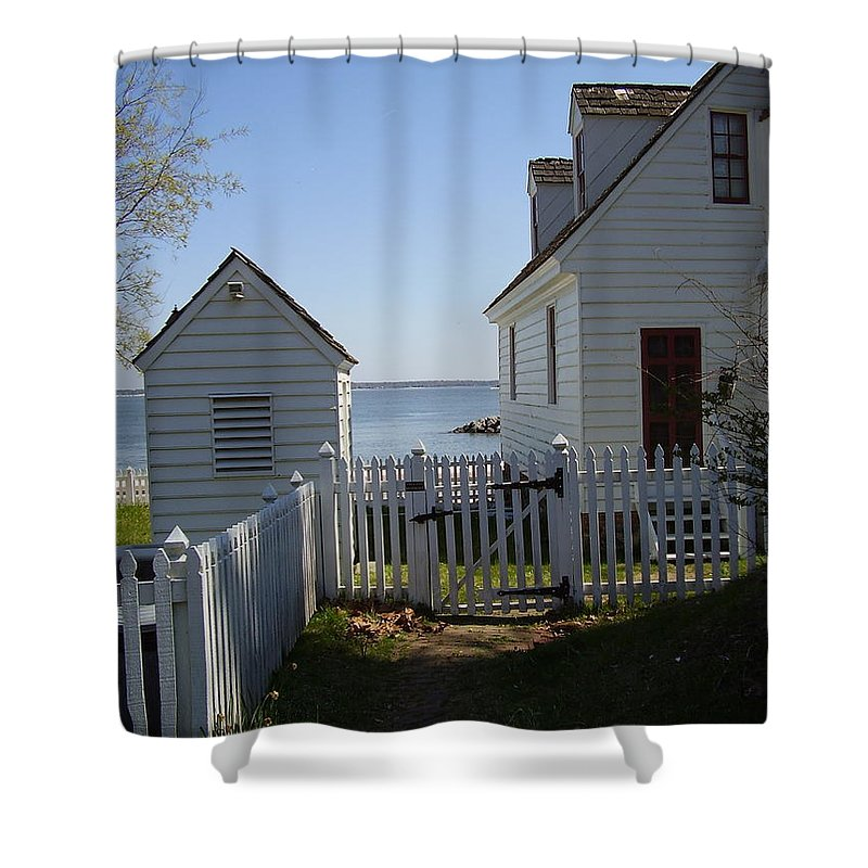 Yorktown Shower Curtain featuring the photograph Yorktown by Flavia Westerwelle