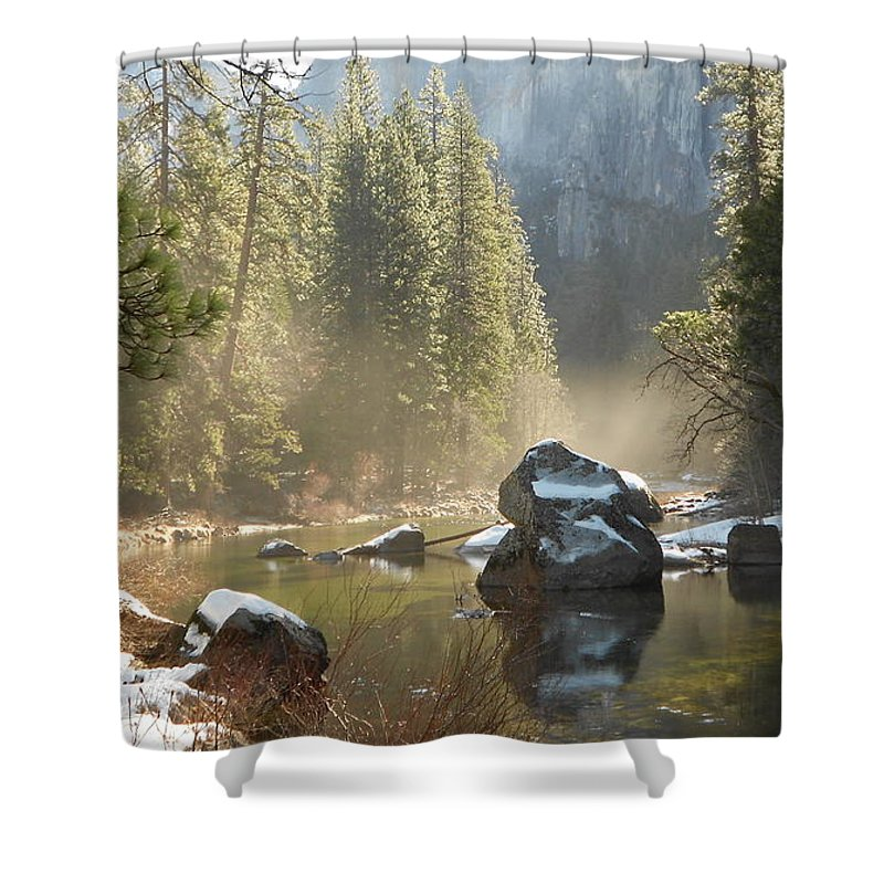 Yosemite Spring Shower Curtain featuring the photograph Yosemite Spring by FD Graham
