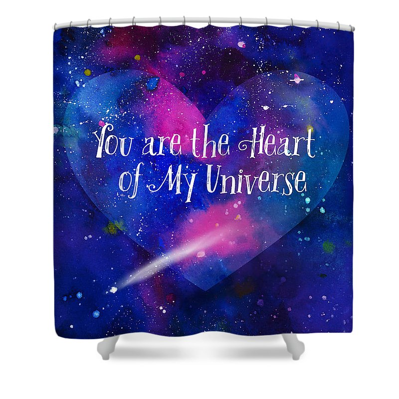 You Are My Universe Shower Curtain For Sale By Karen Ciocca