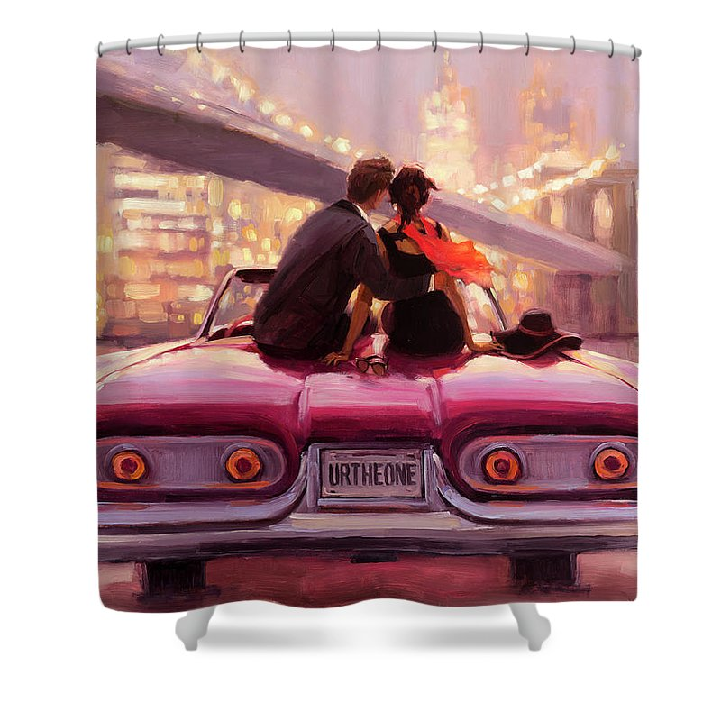 Love Shower Curtain featuring the painting You Are the One by Steve Henderson