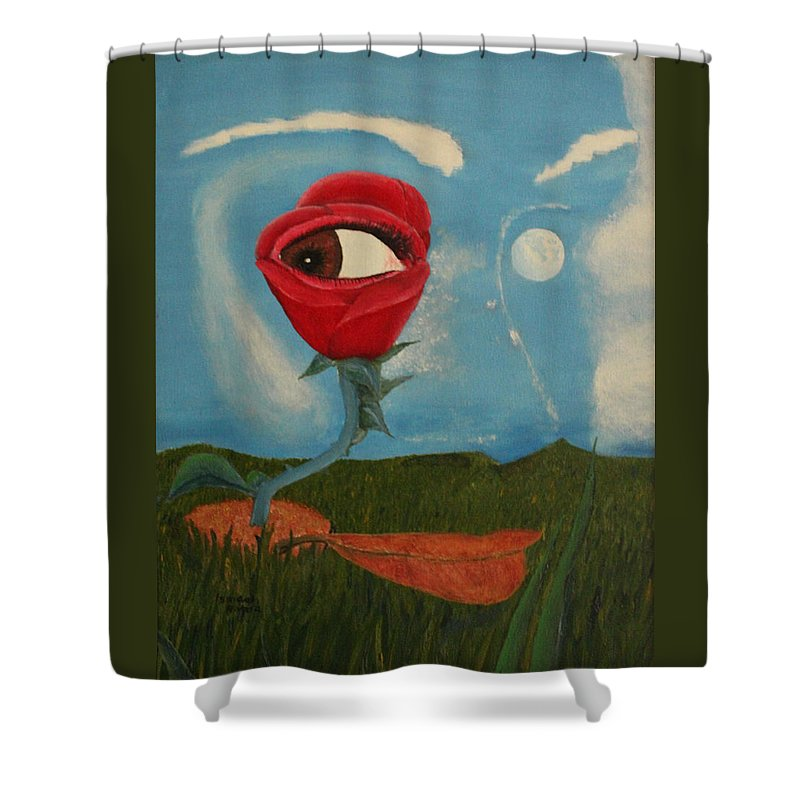 Sol Shower Curtain featuring the painting You Are The Sun by Ismael Rivera