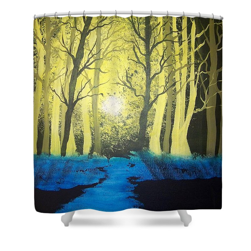 Forest Shower Curtain featuring the painting You Cant See The Forest For The Trees by Laurie Kidd