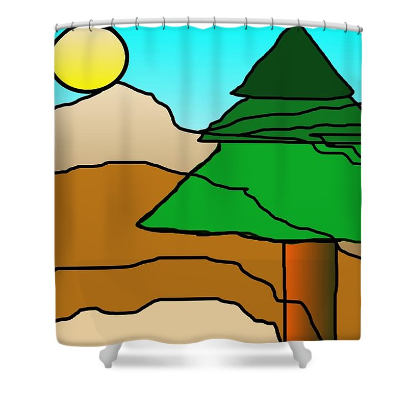 Digital Art Shower Curtain featuring the digital art You Dared Me by David Lane