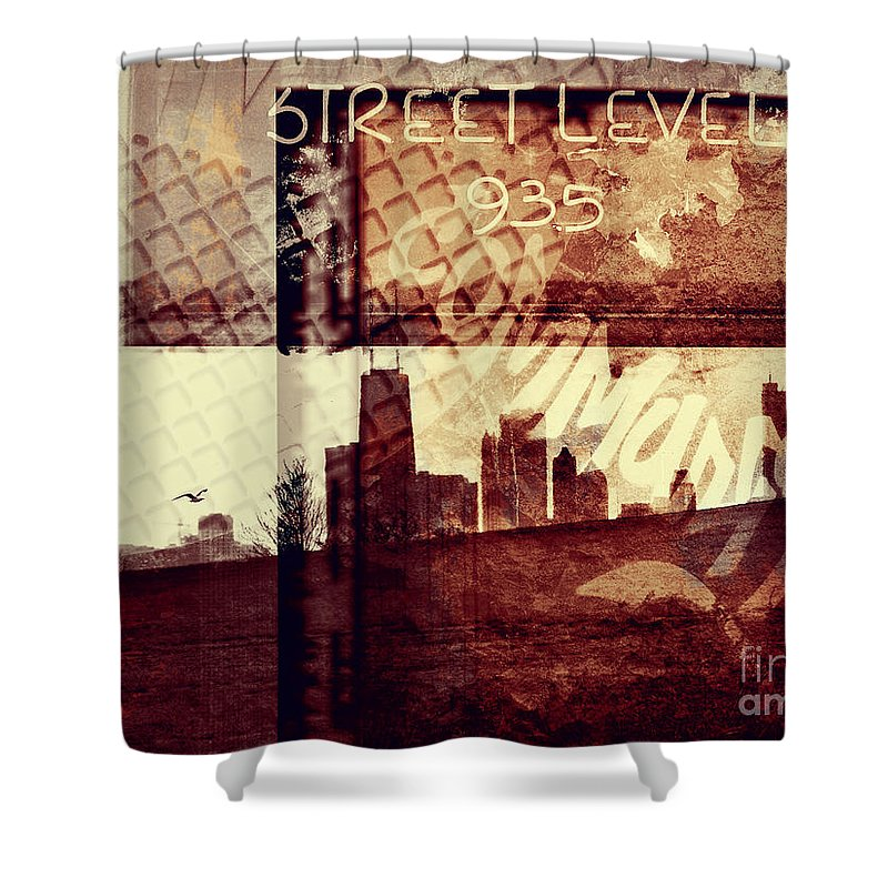 Chicago Shower Curtain featuring the photograph You Held My Hand Softly Through The Humid Summer Streets by Dana DiPasquale