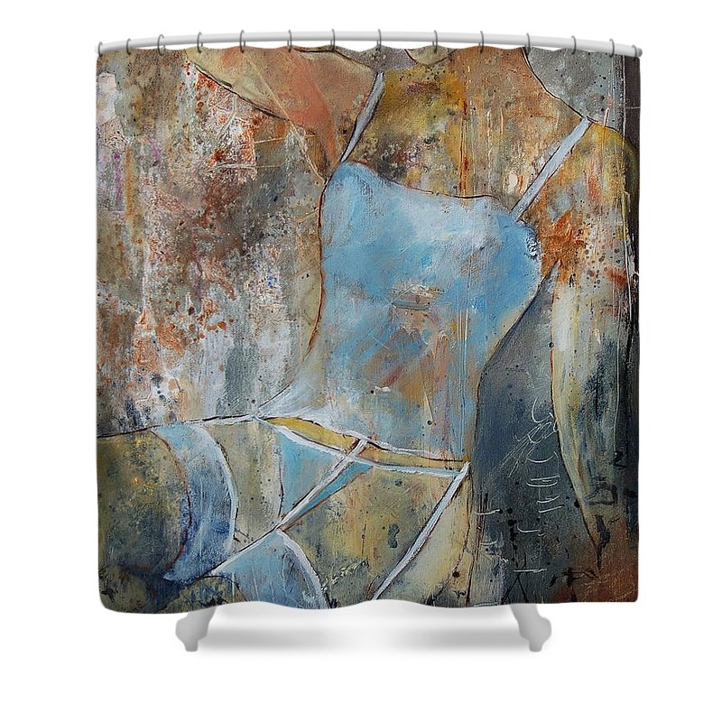 Nude Shower Curtain featuring the painting Young Girl 451108 by Pol Ledent