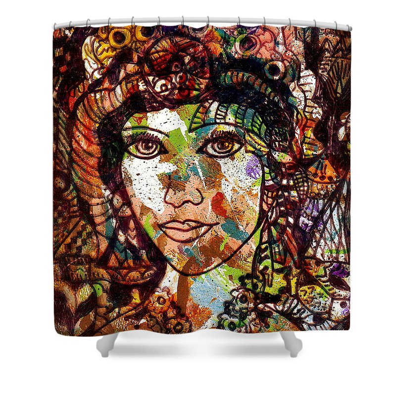 Female Shower Curtain featuring the painting Young Maiden by Natalie Holland