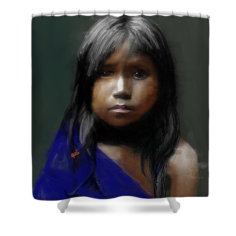 c18c1594ecf8 Young Native American Girl Shower Curtain for Sale by Craig Nelson