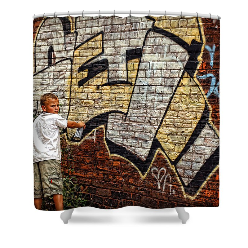 Young Shower Curtain featuring the photograph Young Vandal Too by Gordon Dean II
