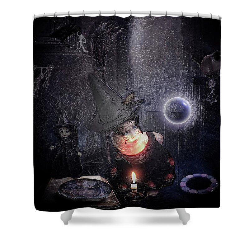 Young Witch 108 Shower Curtain For Sale By Halloween Art