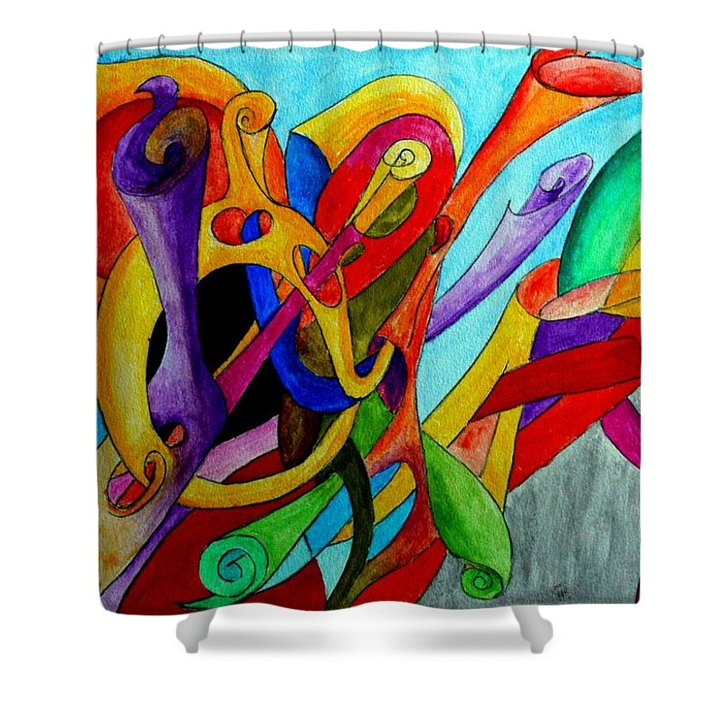 Yourname Shower Curtain featuring the painting Yourname by Helmut Rottler