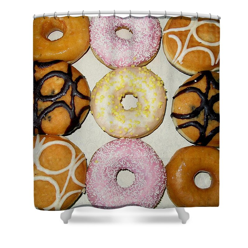 Doughnuts Shower Curtain featuring the photograph Yum by Martine Murphy
