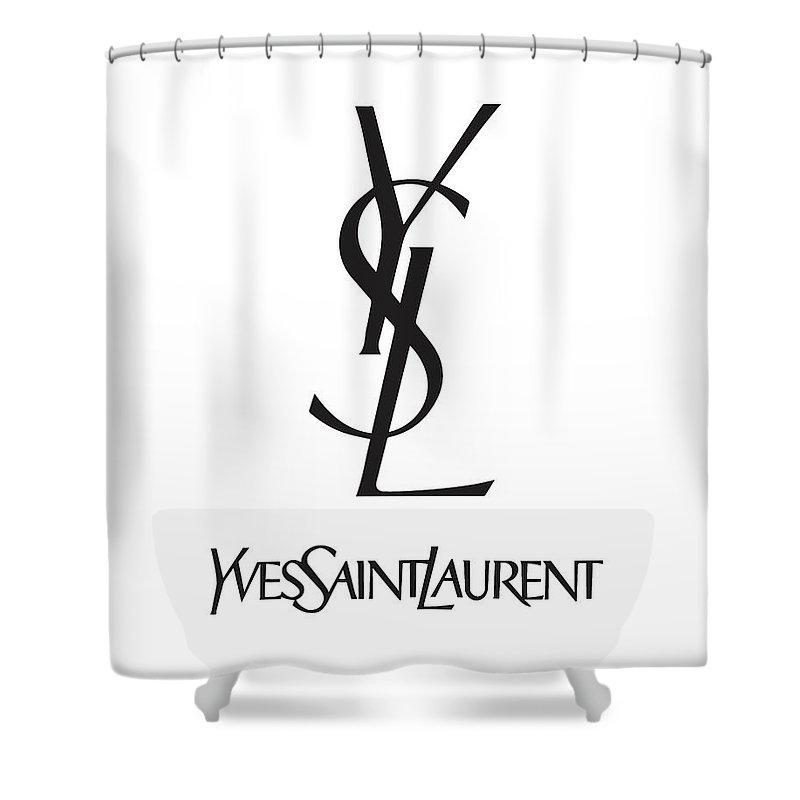 480acba8 Yves Saint Laurent Shower Curtain featuring the digital art Yves Saint  Laurent - Ysl - Black