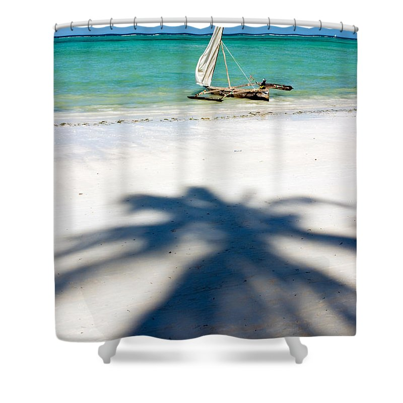 3scape Shower Curtain featuring the photograph Zanzibar Beach by Adam Romanowicz